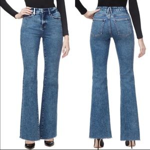Good American Good Flare Jeans Blue Size 24